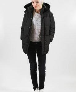 Geaca H&M neagra din fas - FEMEI - JACHETE DAMA