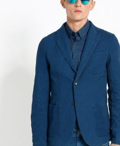 Hilfiger Denim - Sacou Dobby Linen Blazer 31 - Îmbrăcăminte - Sacouri si costume