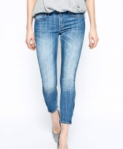 Lee - Jeansi Scarlett Cropped Blue Monday - Îmbrăcăminte - Jeans