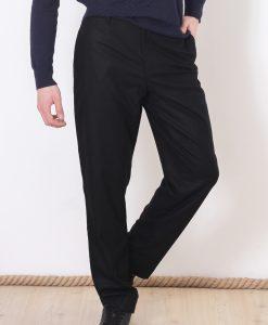 Pantaloni COS pentru barbati din stofa Black - BARBATI - BARBATI