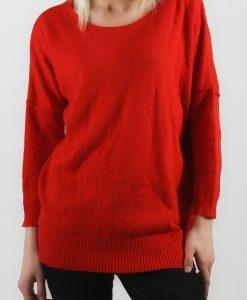 Pulover H&M rosu corai - DISCOUNT EXTRA - DISCOUNT EXTRA