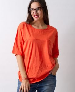Tricou Cheap Monday Orange - FEMEI - TRICOURI DE DAMA