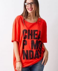 Tricou Cheap Monday Red - FEMEI - TRICOURI DE DAMA