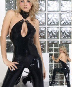 A100 Salopeta Latex - Salopete - Haine > Haine Femei > Costume latex si PVC > Salopete