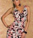 B194-19 Rochie sexy de vara cu print colorat - Rochii de club - Haine > Haine Femei > Rochii Femei  > Rochii de club
