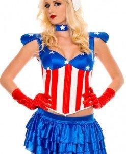 B236 Costum tematic Halloween - Captain America - Super Eroi - Haine > Haine Femei > Costume Tematice > Super Eroi