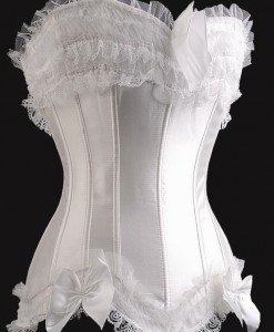 B49-2 Corset elegant alb cu fundite - Corsete - Haine > Haine Femei > Corsete > Corsete