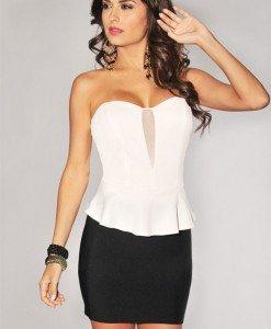 BL113-2 Body elegant cu peplum - Tricouri tip body - Haine > Haine Femei > Tricouri si Maieuri > Tricouri tip body