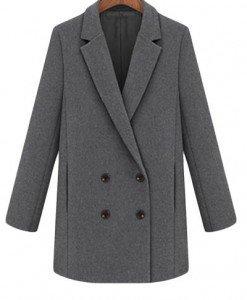 BL206-18 Palton cu maneci lungi si nasturi in fata - Geci si Paltoane - Haine > Haine Femei > Geci si Paltoane