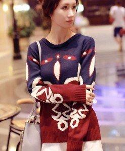 BL258 Bluza de iarna cu model retro - Bluze - Haine > Haine Femei > Bluze > Bluze