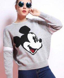 BL263-18 Bluza casual cu model Mickey Mouse - Bluze - Haine > Haine Femei > Bluze > Bluze
