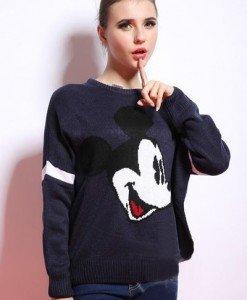 BL263-44 Bluza casual cu model Mickey Mouse - Bluze - Haine > Haine Femei > Bluze > Bluze