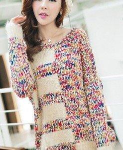 BL266-3 Bluza casual cu mohair si tricot - Bluze - Haine > Haine Femei > Bluze > Bluze