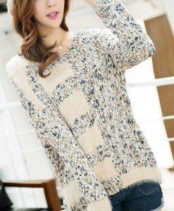 BL266-4 Bluza casual cu mohair si tricot - Bluze - Haine > Haine Femei > Bluze > Bluze