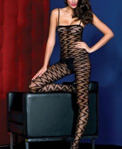 BS115-1 Bodystockings din plasa cu model - Bodystockings
