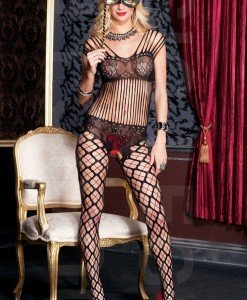 BS121-1 Bodystocking cu plasa - Bodystockings
