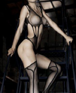 BS143-1 Bodystocking sexy cu ciorapi treisfert - Bodystockings
