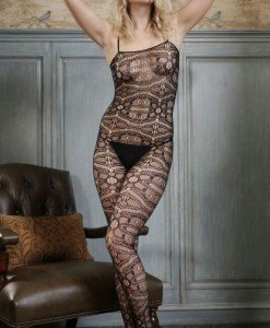 BS165-1 Bodystocking sexy cu plasa si model - Bodystockings