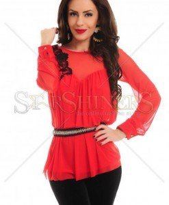 Bluza Artista Floral Thrill Red - Bluze -