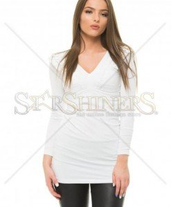 Bluza MissQ Natural Shine White - Bluze -
