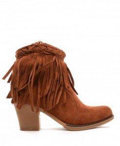 Botine Fistal Camel - Botine - Botine