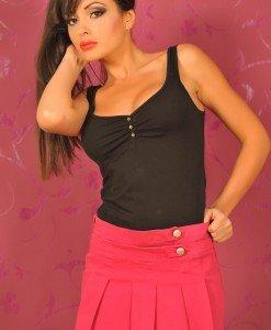 BsK157 Fusta Dama cu Pliuri - Bershka - Haine > Brands > Bershka