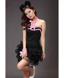 C317 Costum tematic pisica neagra - Animalute - Haine > Haine Femei > Costume Tematice > Animalute