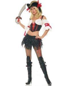 C63 Costum carnaval Corsar - Pirat - Haine > Haine Femei > Costume Tematice > Pirat