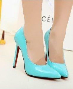 CH2237-122 Pantofi stiletto din lac cu toc inalt - Pantofi Dama - Incaltaminte > Incaltaminte Femei > Pantofi Dama