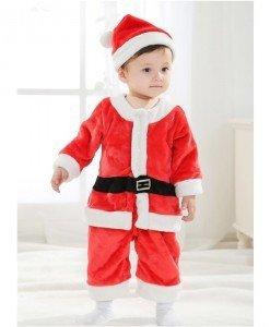 CLD35 Costum tematic baby Santa pentru copii - Costume tematice - Haine > Haine Copii > Costume tematice