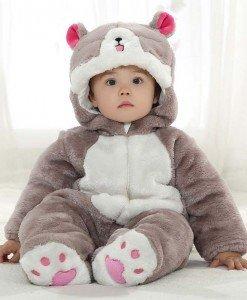CLD49 Salopeta pisica cu coada pentru copii - Costume tematice - Haine > Haine Copii > Costume tematice