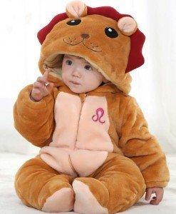 CLD55-8 Salopeta zodia leu pentru copii - Costume tematice - Haine > Haine Copii > Costume tematice