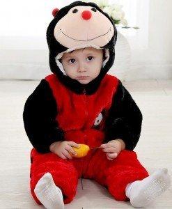 CLD68-A Salopeta buburuza pentru copii - Costume tematice - Haine > Haine Copii > Costume tematice