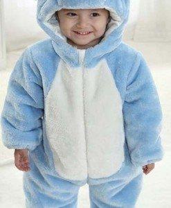 CLD71-4 Salopeta elefant albastru pentru copii - Costume tematice - Haine > Haine Copii > Costume tematice