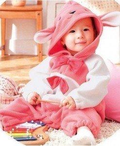 CLD78-5 Salopeta iepuras pentru copii - Costume tematice - Haine > Haine Copii > Costume tematice
