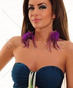 Cercei Adorable Purple - Accesorii -