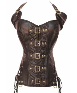 Corset Coffee Buckle-up - Corsete - 0