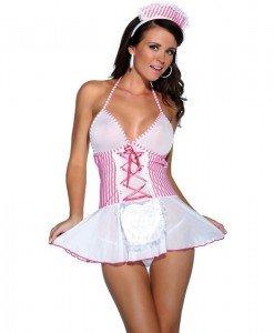 D220 Costum tematic asistenta - Asistenta Medicala - Haine > Haine Femei > Costume Tematice > Asistenta Medicala