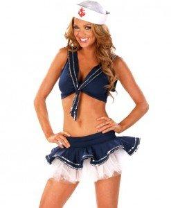 D321-4 Costum Halloween marinar sexy - Armata - Marinar - Haine > Haine Femei > Costume Tematice > Armata - Marinar