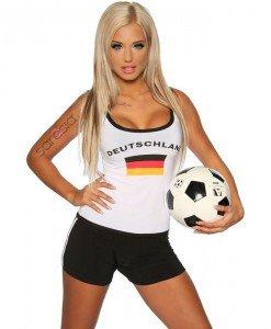 D327 Costum Halloween fotbalist - Sport - Racing - Haine > Haine Femei > Costume Tematice > Sport - Racing