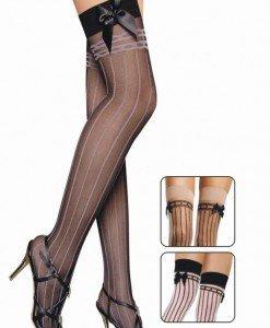 E123 Ciorapi cu dungi verticale si fundite - Ciorapi dama - Haine > Haine Femei > Ciorapi si manusi > Ciorapi dama