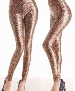E124 Colanti lungi din vinil cu model animal print - Colanti - Haine > Haine Femei > Costume latex si PVC > Colanti