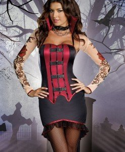 F147 Costum Tematic Vampir - Vrajitoare - Vampir - Haine > Haine Femei > Costume Tematice > Vrajitoare - Vampir