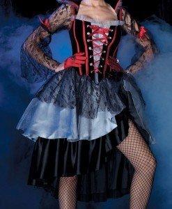 F149 Costum tematic vampir - Vrajitoare - Vampir - Haine > Haine Femei > Costume Tematice > Vrajitoare - Vampir