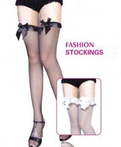 F34 Accesorii ciorapi din plasa cu fundite - Ciorapi dama - Haine > Haine Femei > Ciorapi si manusi > Ciorapi dama
