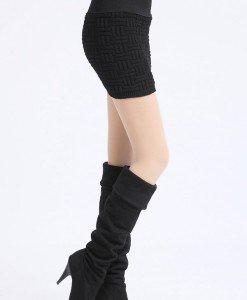 FS2-1 Fusta scurta tricotata elastica - Fuste - Haine > Haine Femei > Fuste