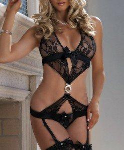G136-1 Lenjerie body elegant cu dantela - Lenjerie body - Haine > Haine Femei > Lenjerie intima > Lenjerie body