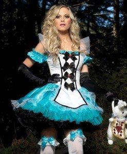 G142 Costum tematic Alice in Tara Minunilor - Basme si Legende - Haine > Haine Femei > Costume Tematice > Basme si Legende