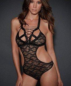 G361-1 Body sexy din dantela cu decupaje - Lenjerie body - Haine > Haine Femei > Lenjerie intima > Lenjerie body