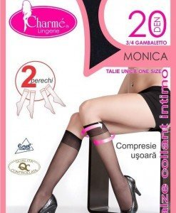 GAT12-1 Ciorapi Charme Monica 3/4 cu varful intarit